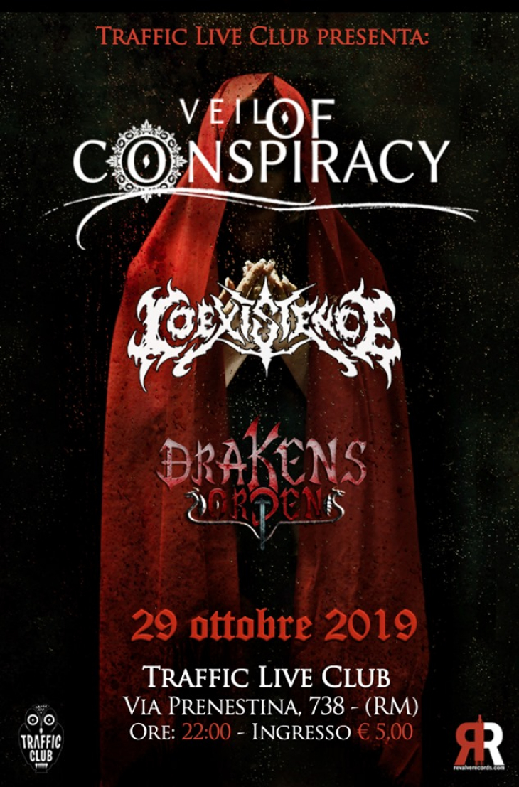 Veil of Conspiracy - Coexistence - Drakens Orden at Traffic Live