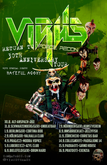 Coexistence in tour with Virus and Hateful Agony